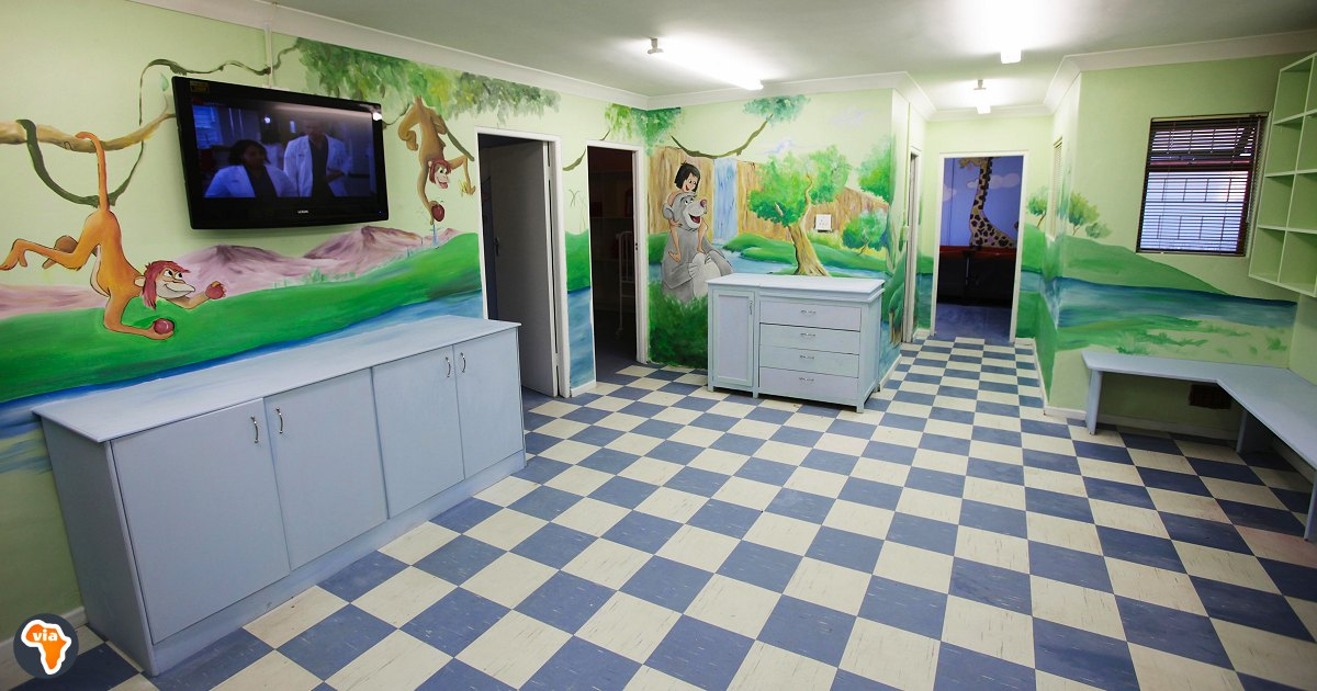The baby room at Baphumelele Children's home near Cape Town, South Africa.