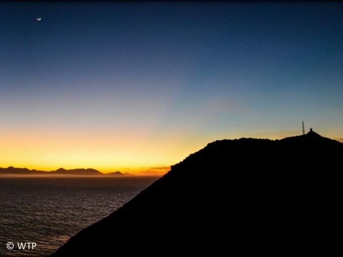 Beautiful sunset at Cape Point.