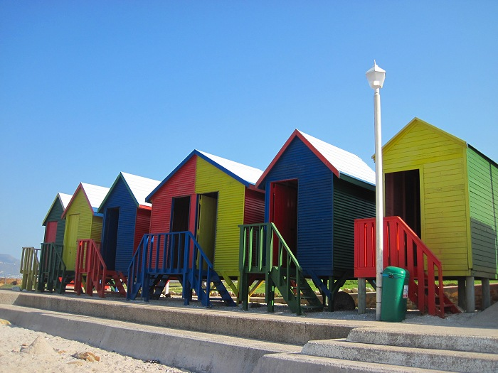 These colourful beach huts in Muizenberg have become a landmark.
