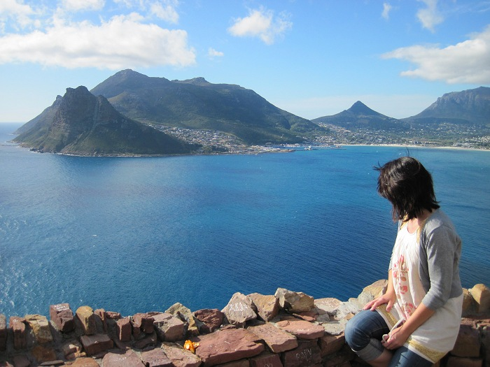Overlooking Hout Bay from Chapman's Peak Drive.