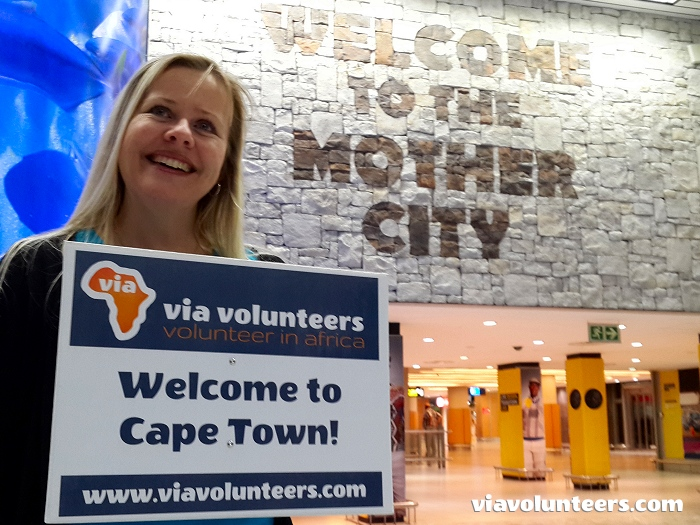All our volunteers receive a warm friendly welcome when they land at Cape Town International Airport.