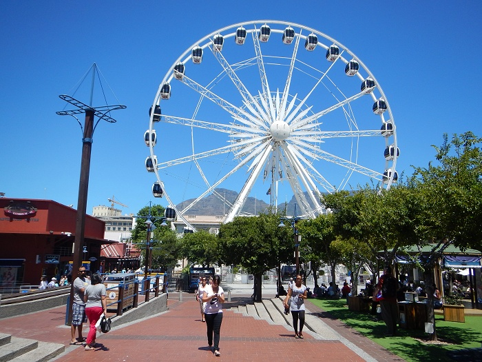 The wheel of excellence at the V&A Waterfront.