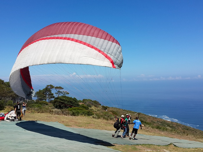For those that are brave - paragliding off Signal Hill!
