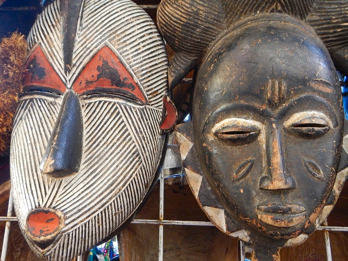 Masks at Greenmarket Square.