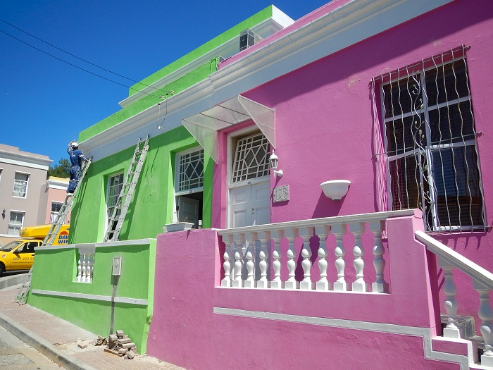 Bo-Kaap is known for its brightly coloured homes and romantic cobble stoned streets.