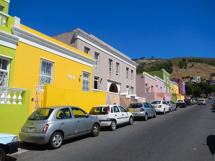 Colourful houses in Bo-Kaap.