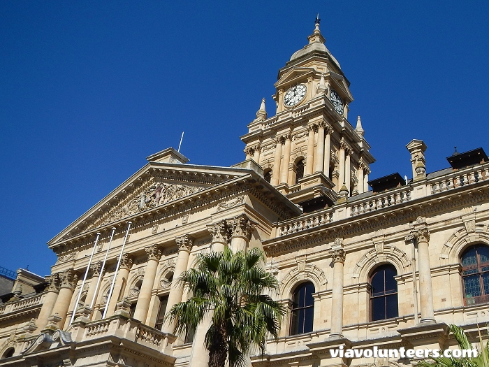 Cape Town City Hall is a large Edwardian building in Cape Town city centre which was built in 1905. On 11 February 1990, only hours after his release from prison, Nelson Mandela made his first public speech from here.