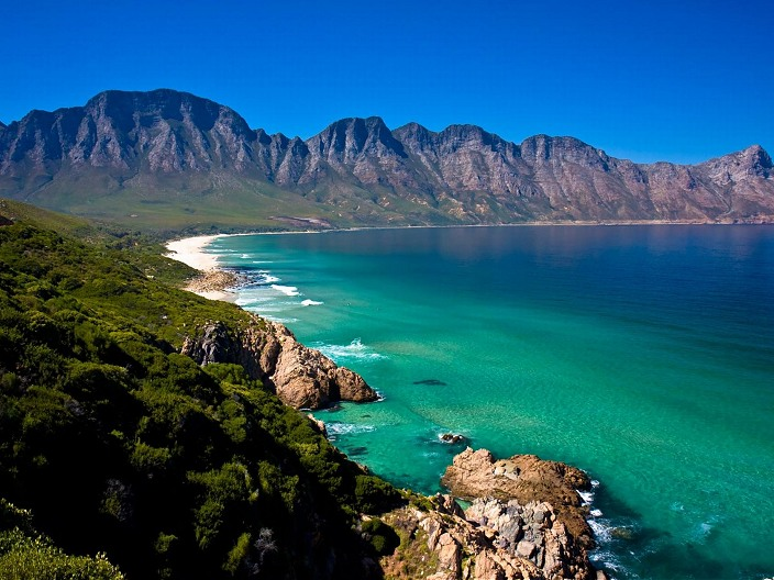 Beautiful mountain and sea views around the False Bay coast.