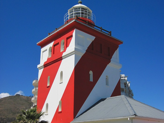 The Green Point Lighthouse, Cape Town was the first solid lighthouse structure on the South African coast, first lit on 12 April 1824.