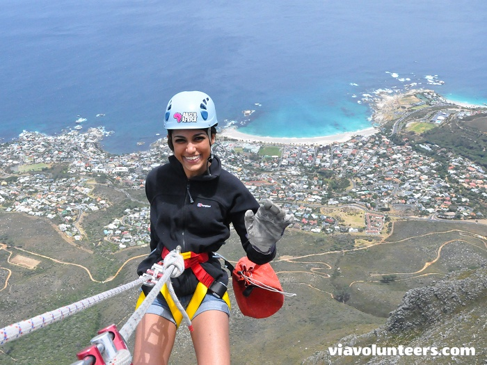 Abseil from the top of Table Mountain, at 1 000 m above sea level. No experience necessary, just a bit of insanity!