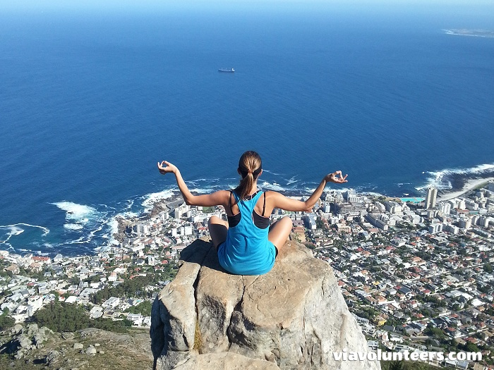 Keeping calm on Lion's Head!