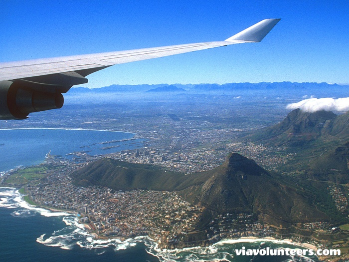 Great views of the city as you arrive in Cape Town!