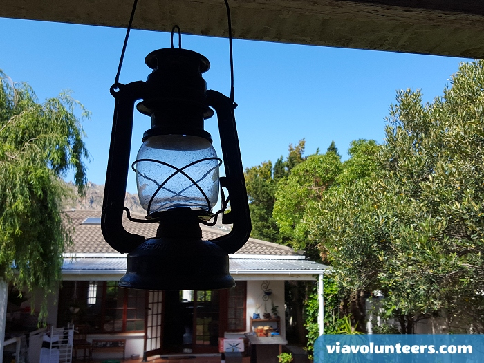 The 'stoep' or verandah at the volunteer cottage in Gordon's Bay.