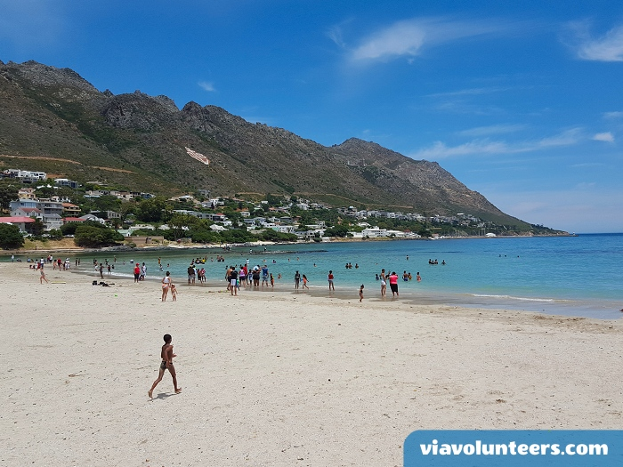 Gordon's Bay Beach is less than two minutes walk from the volunteer cottage.