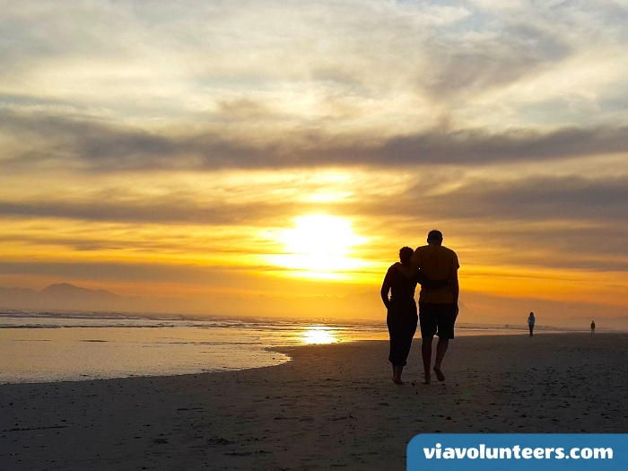 Strand Beach is just a few minutes drive from Gordon's Bay with long sandy beaches and spectacular sunsets.