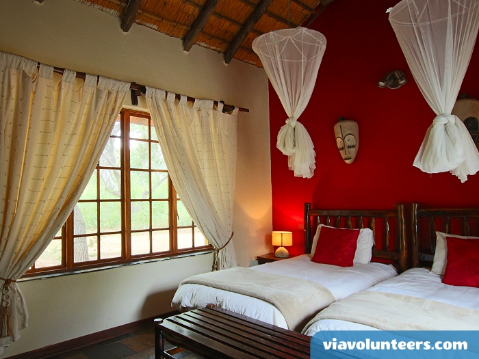 Your accommodation while on safari. Twin share rooms at the lodge.