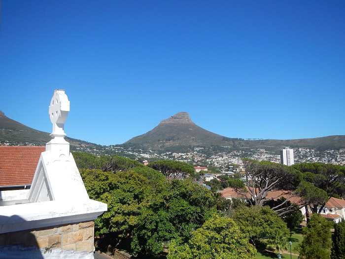 What a beautiful view of Lion's Head from Nazareth House, Vredehoek!