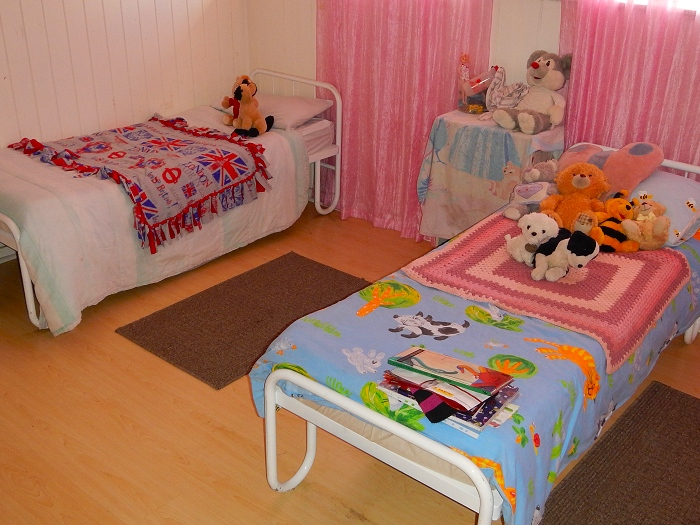 One of the many cosy bedrooms at the St. George's Home for girls.  This was part of their Extreme Makeover by Newkidz.