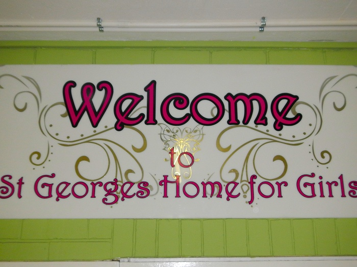A warm welcome as you enter the St. Georges Home for Girls!
