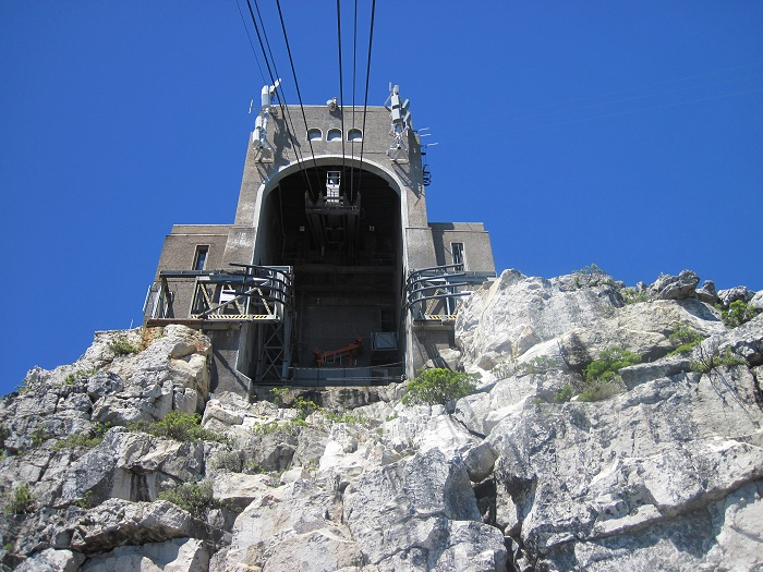 The cable car station on the top of Table Mountain.
