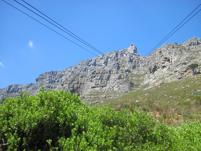The upper cable station on Table Mountain offers views overlooking Cape Town, Table Bay and Robben Island to the north, and the Atlantic seaboard to the west and south.