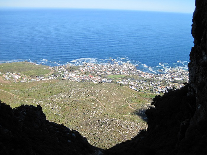 Stunning view from Table Mountain over Bantry Bay, from the Twelve  Apostles.