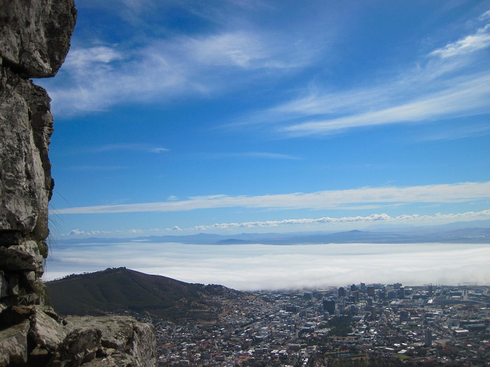 A stunning view of Cape Town from one of the hiking trails on Table Mountain.