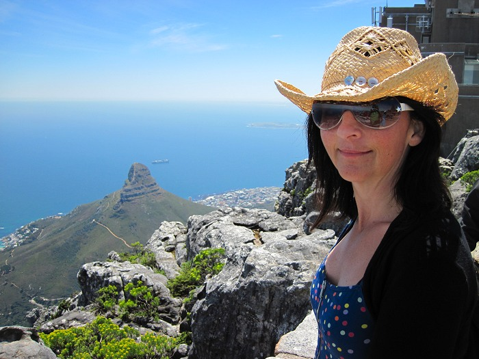A great view from the upper cable car station on Table Mountain.