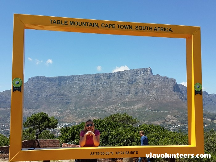 Views of Table Mountain from Signal Hill.
