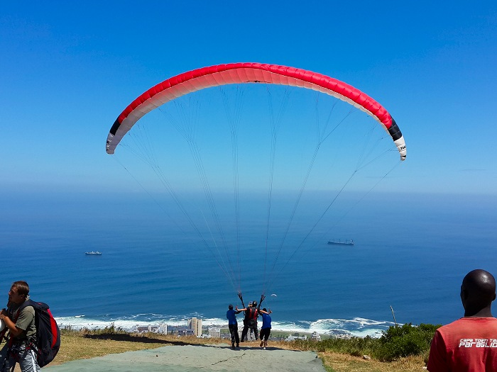 Paragliding offf Signal Hill.