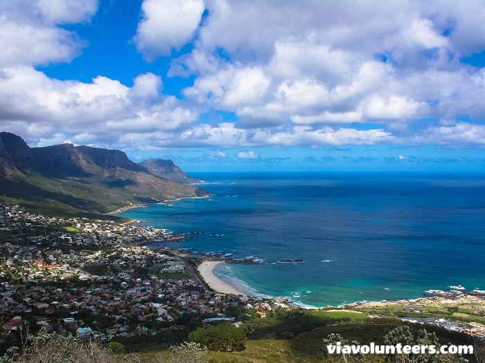 The view from Lion's Head looking across Camps Bay and the Twelve Apstles is stunning!