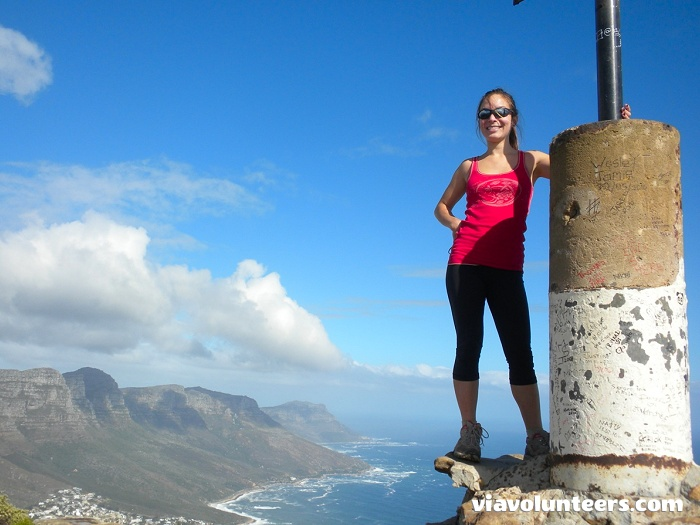 Looking out over Cape Town from Lion's Head.