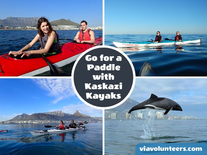 Join Kaskazi Kayaks for an early morning guided 2-hour paddle from Three Anchor Bay for amazing views of Cape Town and the chance to see whales, dolphins and other marine life.