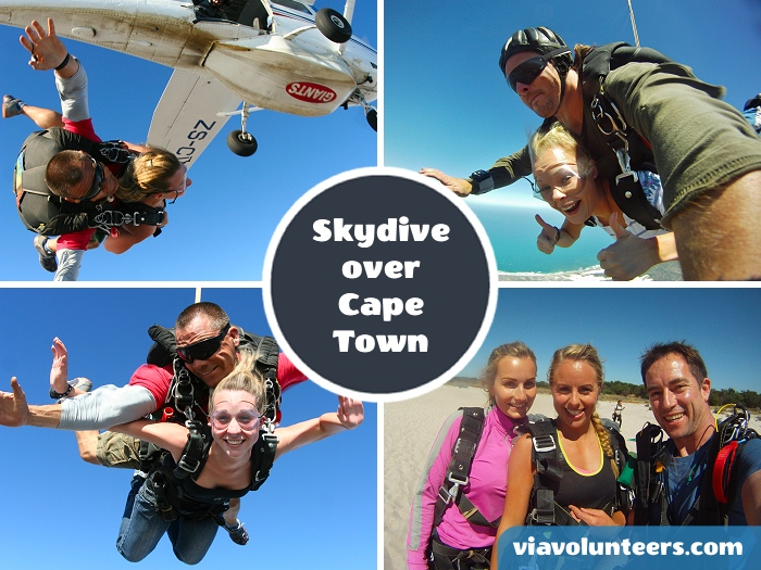 Follow in Prince Harry's footsteps and go Skydiving just up the coast from Cape Town.