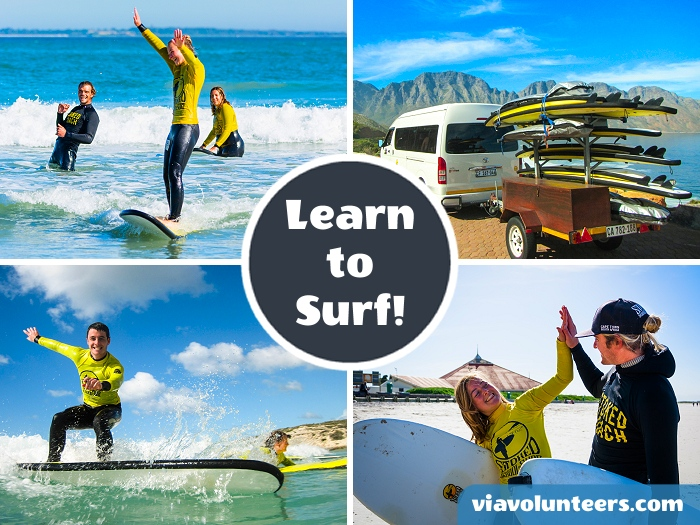 Learn to surf with Stoked School of Surf at one of Cape Town's pristine beaches with experienced, qualified coaches. A 2-hour group surf lesson includes the use of a warm wetsuit, surfboard and guarantees 100% 'stoke'.
