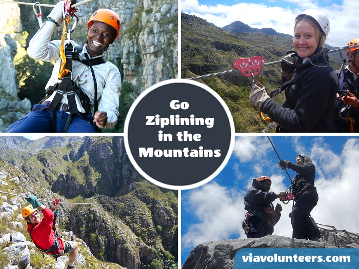 Join the team from Cape Canopy Tours for an amazing day zip-lining your way through the mountains. There are 11 zip-lines with some over 300m, and a suspension bridge too.