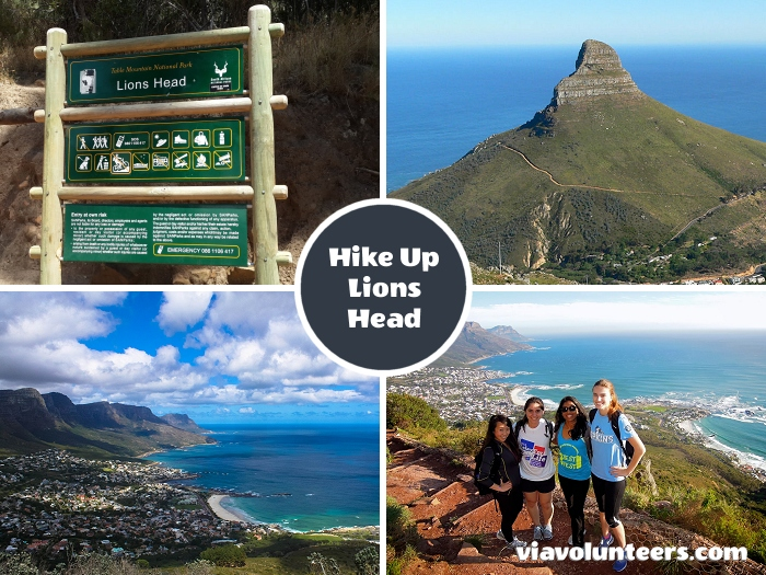 Hike up Lions Head for spectacular views of the city, Table Mountain and the Atlantic seaboard. If you're really fit you can get to the top in about 30 minutes, but we advise you to allow 2 hours each way to give you time to rest and enjoy the views.