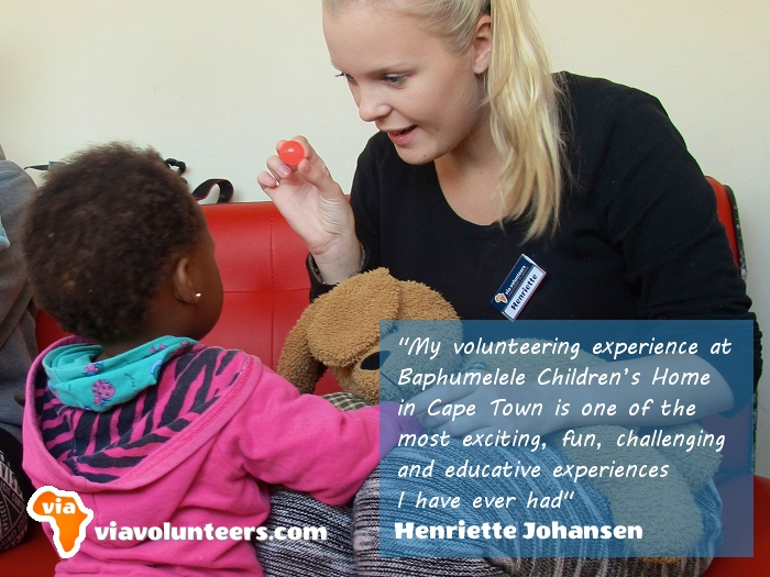 Volunteer Review - Henriette volunteered at Baphumelele Children's Home near Cape Town, South Africa.
