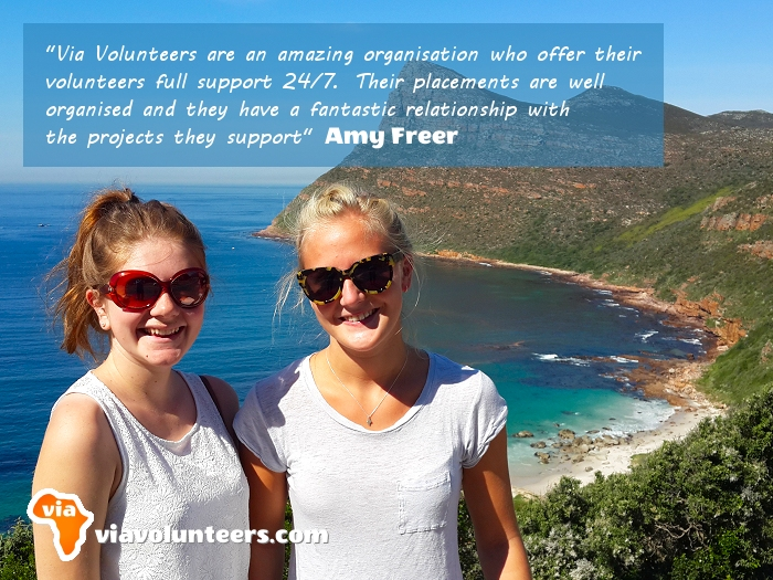 Volunteer Review - Amy (on the left) volunteered at Fikelela Children's Home near Cape Town, South Africa.