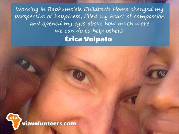 Volunteer Review - Erica volunteered at Baphumelele Children's Home near Cape Town, South Africa.
