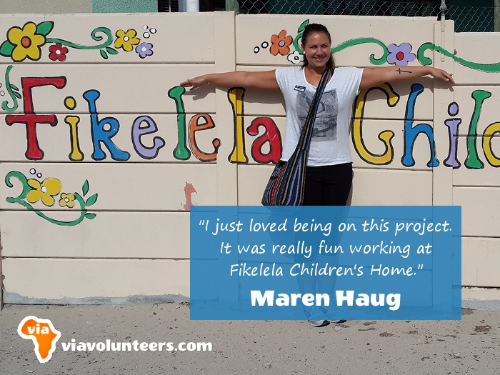 Volunteer Review - Maren volunteered at Fikelela Children's Home near Cape Town, South Africa.