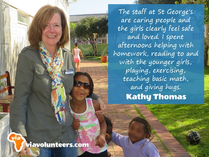Volunteer Review - Kathy volunteered at St. George's Home for Girls near Cape Town, South Africa.