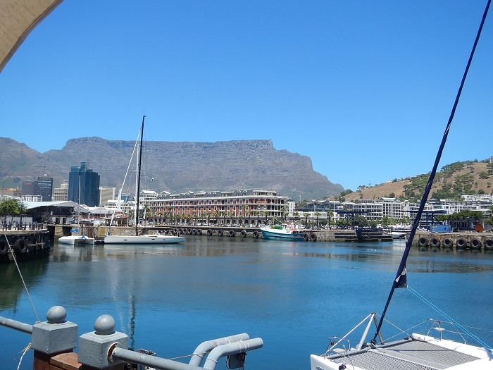 Beautiful Table Mountain as seen from the V&A Waterfront.