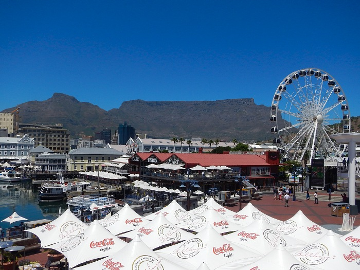 Beautiful view of Table Mountain from the V&A Waterfront.