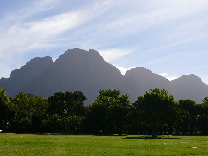 Simonsberg Mountain in the Stellenbosch Winelands.